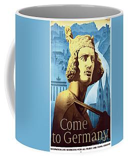 Germany Vintage Travel Poster Restored Coffee Mug by Carsten Reisinger