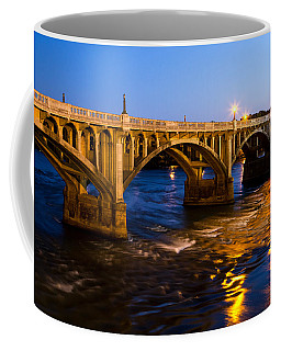 Gervais Street Bridge At Twilight Coffee Mug