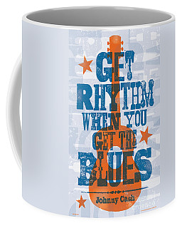 Get Rhythm - Johnny Cash Lyric Poster Coffee Mug