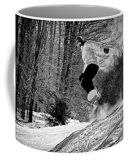 Coffee Mug featuring the photograph Getting Air On The Snowboard by David Patterson