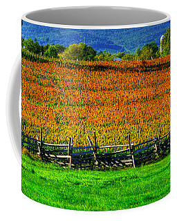 Gettysburg At Rest - Fields, At Times, That Still Run Red - View From Mc Pherson Ridge Adams County Coffee Mug by Michael Mazaika