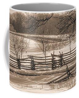 Gettysburg At Rest - We'll Be Home Before Dark - Phillip Synder Farm, Winter Coffee Mug by Michael Mazaika