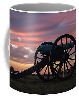 Gettysburg - Cannon On Cemetery Ridge At First Light Coffee Mug