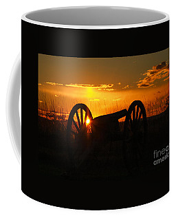 Gettysburg Cannon Sunset Coffee Mug by Randy Steele