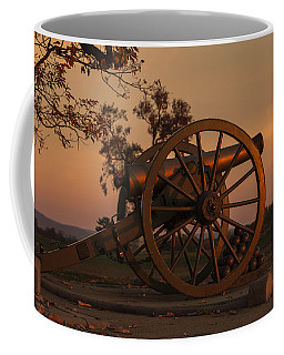 Gettysburg - Cannon With Cannon Balls At Sunrise Coffee Mug