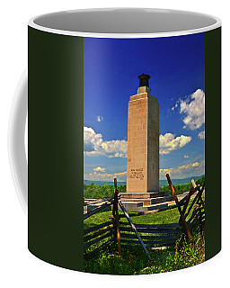 Coffee Mug featuring the photograph Gettysburg - Eternal Light Peace Memorial 001 by George Bostian