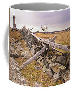 Gettysburg Fences And Battlefields I Coffee Mug by Marianne Campolongo