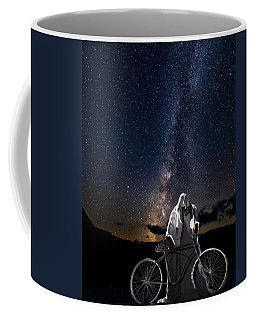 Coffee Mug featuring the photograph Ghost Rider Under The Milky Way. by James Sage