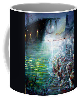 Coffee Mug featuring the painting Ghost Ship 2 by Heather Calderon