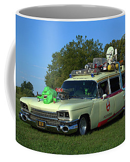 1959 Cadillac Ghostbusters Ambulance Replica Coffee Mug