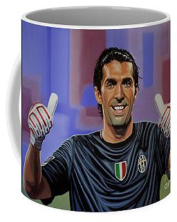 Gianluigi Buffon Painting Coffee Mug by Paul Meijering
