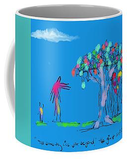 Giant, Boy, And Doorway Coffee Mug