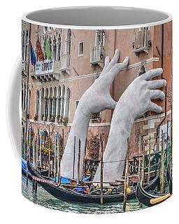 Giant Hands Venice Italy Coffee Mug