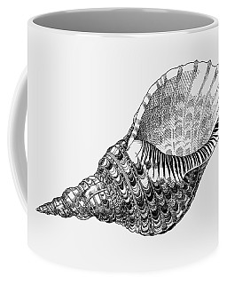 Coffee Mug featuring the drawing Giant Triton Shell by Judith Kunzle