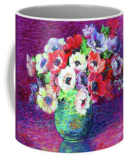 Coffee Mug featuring the painting Gift Of Anemones by Jane Small