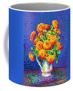 Gift Of Gold, Orange Flowers Coffee Mug