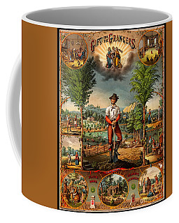 Gift For The Grangers 1873 Victoiran National Grange Agriculture Promotional Art Coffee Mug