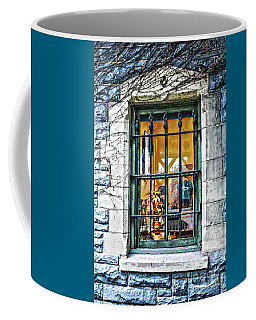 Coffee Mug featuring the photograph Gift Shop Window by Sandy Moulder