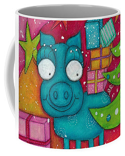 Gifting Piggy Coffee Mug by Barbara Orenya