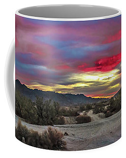 Gila Mountains And Sonoran Desert Sunrise Coffee Mug by Robert Bales