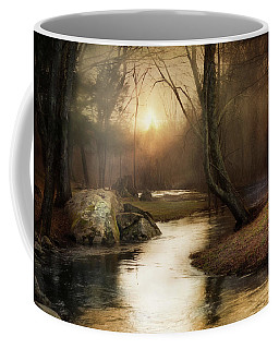 Coffee Mug featuring the photograph Gilded Woodland by Robin-Lee Vieira