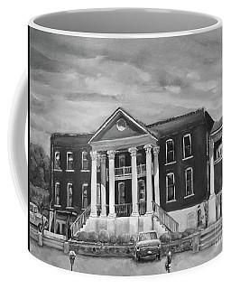 Gilmer County Old Courthouse - Black And White Coffee Mug