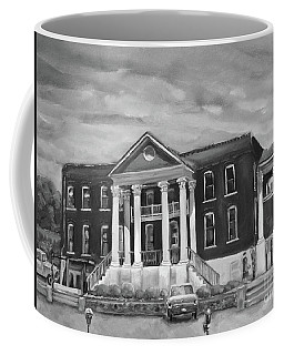 Gilmer County Old Courthouse - Black And White Coffee Mug
