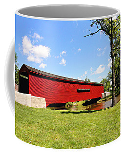 Gilpin's Falls Covered Bridge Coffee Mug by Trina  Ansel