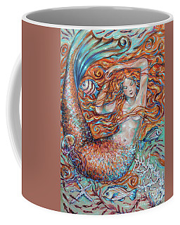 Coffee Mug featuring the painting Ginger Dreams by Linda Olsen