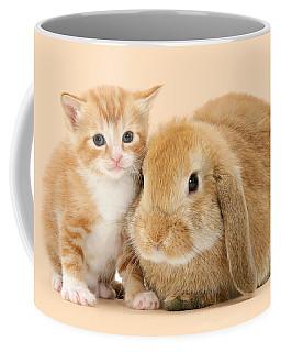 Ginger Kitten And Sandy Bunny Coffee Mug