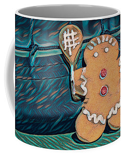 Coffee Mug featuring the photograph Gingerbread Tennis Girl Remix by Dan McManus