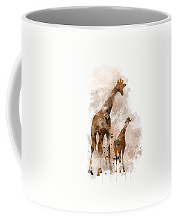 Giraffe And Baby Coffee Mug