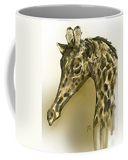 Giraffe Contemplation Coffee Mug
