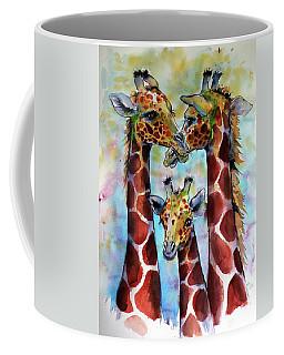 Giraffe Family Coffee Mug by Kovacs Anna Brigitta