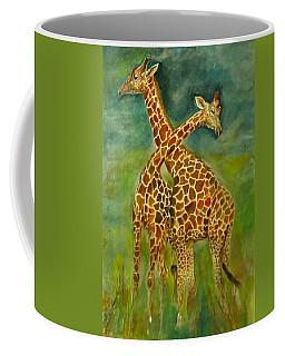 Lovely Giraffe . Coffee Mug by Khalid Saeed