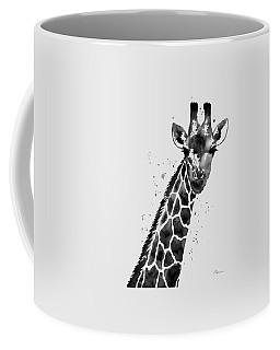 Giraffe In Black And White Coffee Mug