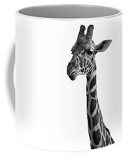 Coffee Mug featuring the photograph Giraffe In Black And White by James Sage