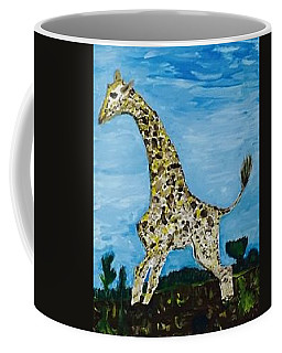 Coffee Mug featuring the painting Giraffe In Stride by Jonathon Hansen