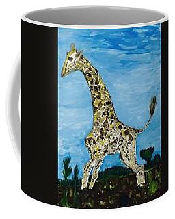 Giraffe In Stride Coffee Mug