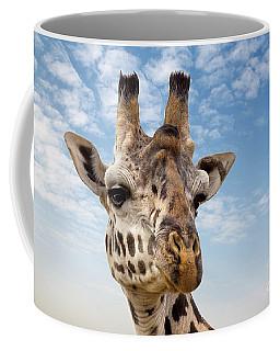 Giraffe In The Masai Mara Coffee Mug
