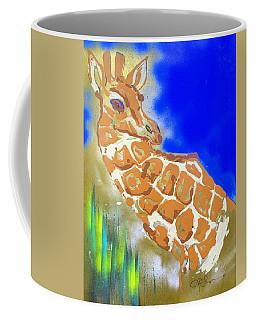 Coffee Mug featuring the painting Giraffe by J R Seymour