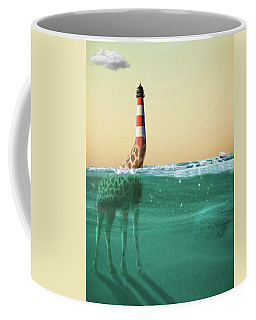 Giraffe Lighthouse Coffee Mug by Keshava Shukla