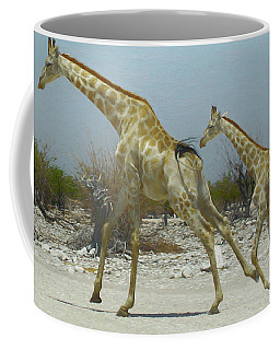 Giraffe Run Coffee Mug by Ernie Echols