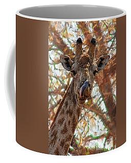 Giraffe Says Yum Coffee Mug