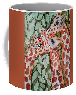 Giraffe Trio By Christine Lites Coffee Mug
