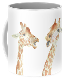 Giraffe Watercolor Coffee Mug by Taylan Apukovska