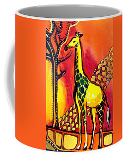 Giraffe With Fire  Coffee Mug