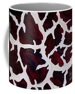Giraffes Coat Coffee Mug by Sheron Petrie