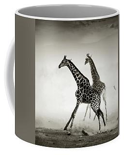 Giraffes Fleeing Coffee Mug