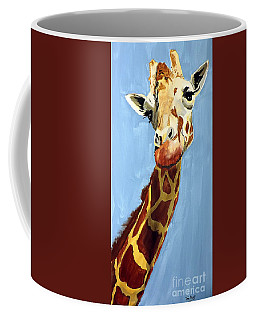 Coffee Mug featuring the painting Girard Giraffe by Tom Riggs